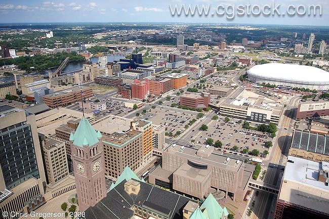 Aerial View of Downtown Minneapolis
