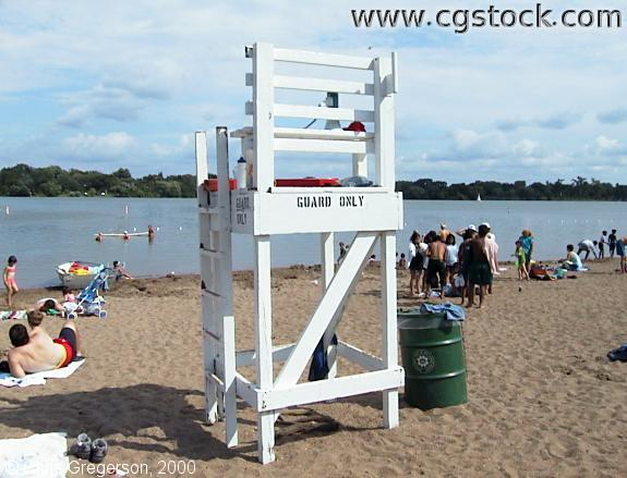 Lifeguard Chair, Lake Nokomis Main Beach