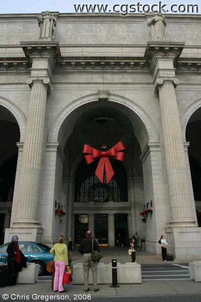 Entrance to Union Station in Washington, DC