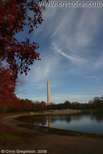 Washington Monument and Pond on the National Mall, DC