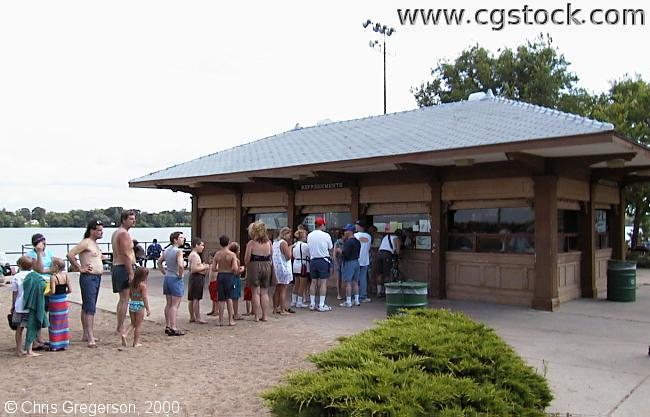 Waiting at Concession Stand, Lake Nokomis