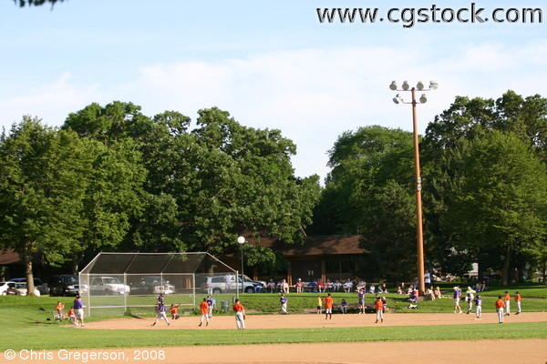 Little League Baseball Game, Linden Hills Park