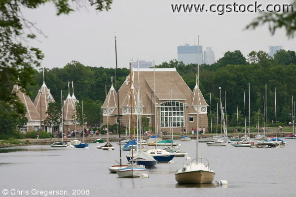 Bandshell, Sailboats at Lake Harriet, Minneapolis