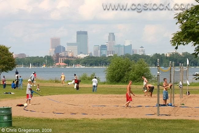 Beach Volleyball Courts, Lake Calhoun