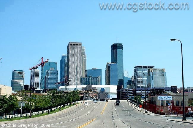 Downtown Minneapolis from 7th Street North