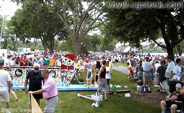 Milk Carton Boat Race Crowd