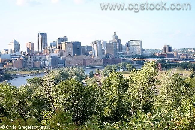 Downtown St. Paul and the Mississippi River