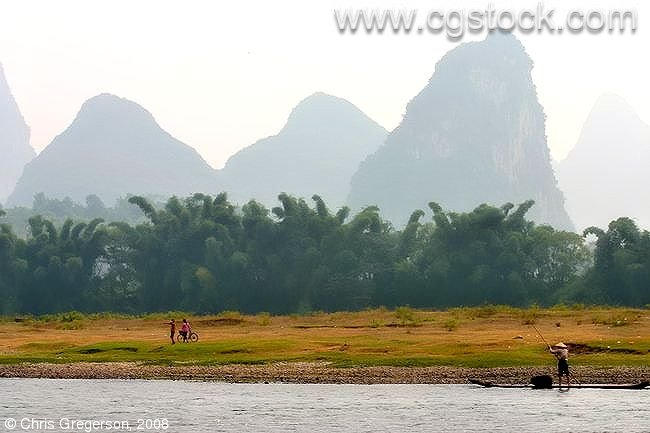Li River and Kurst Mountains, Guangxi Province, China