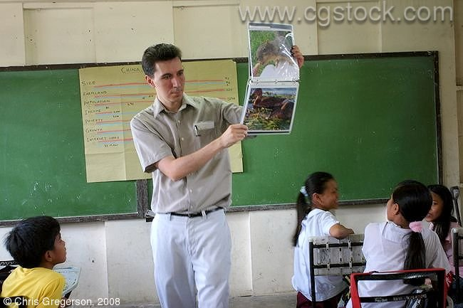 American Speaker in Filipino Public Elementary School