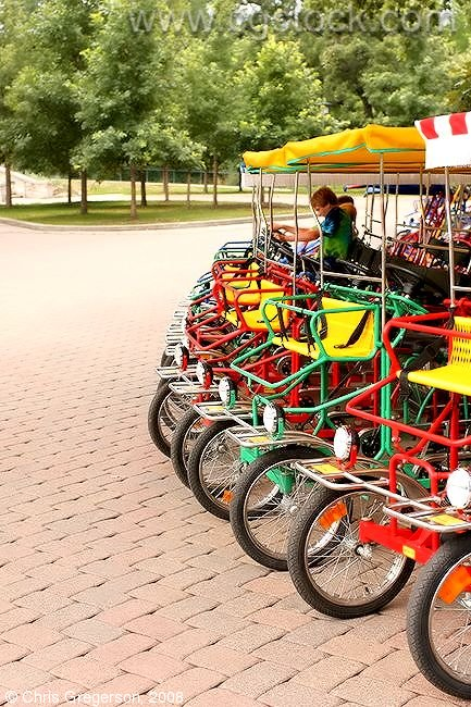 Bicycle Carriages in Minnehaha Park, Minneapolis