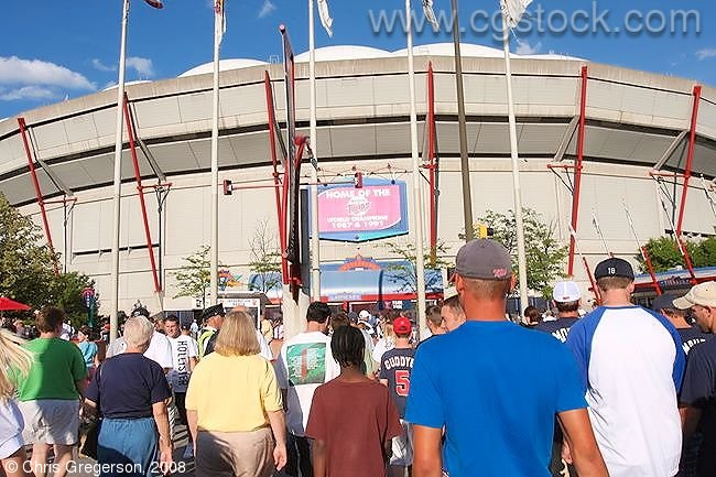 Crowd Arriving at the Metrodome in Minneapolis