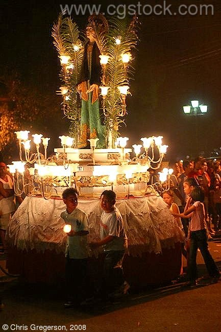 Carroza in the Good Friday Parade, Vigan, the Philippines