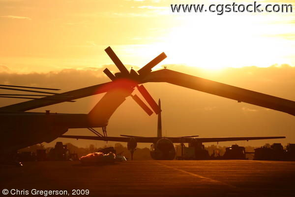 Sunrise at Clark Air Base, the Philippines