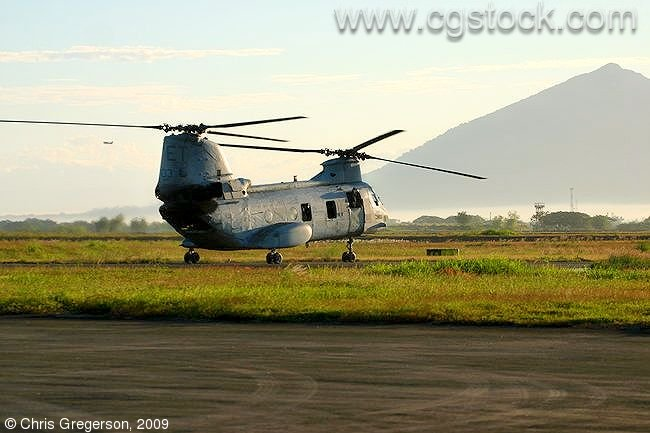US Marine Sea Knight Helicopter, Clark Air Base, the Philippines