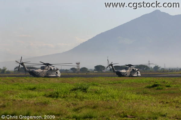 Sea Stallion Helicopters Taxiing for Take-Off, Philippines