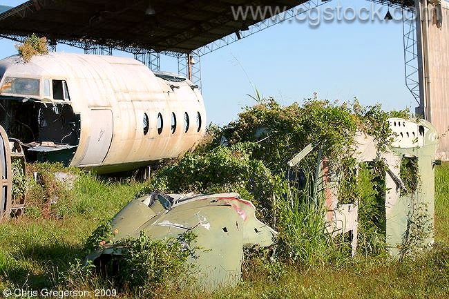 Shells of Abandoned Aircraft, Clark Air Base, the Philippines