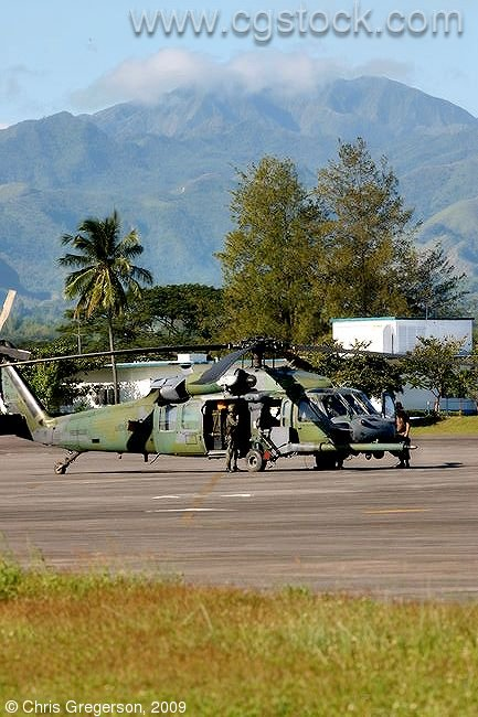 US Marine HH-60 Pave Hawk Parked at Clark Air Base, the Philippines