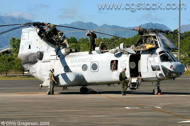 Marine Sea Knight Helicopter, Clark Air Base, Philippines
