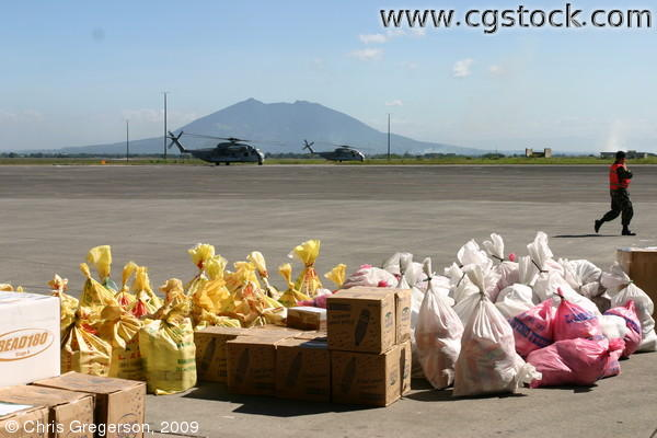 Relief Supplies for Typhoon Victims