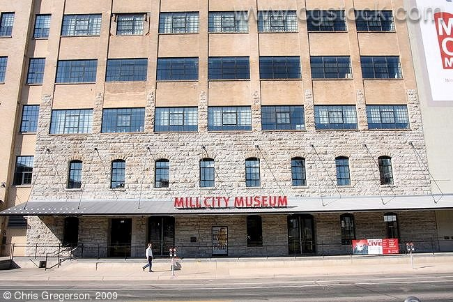 Entrance to the Mill City Museum, downtown Minneapolis