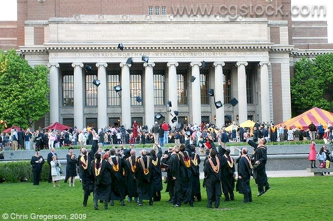 Graduation Hat-Toss, University of Minnesota
