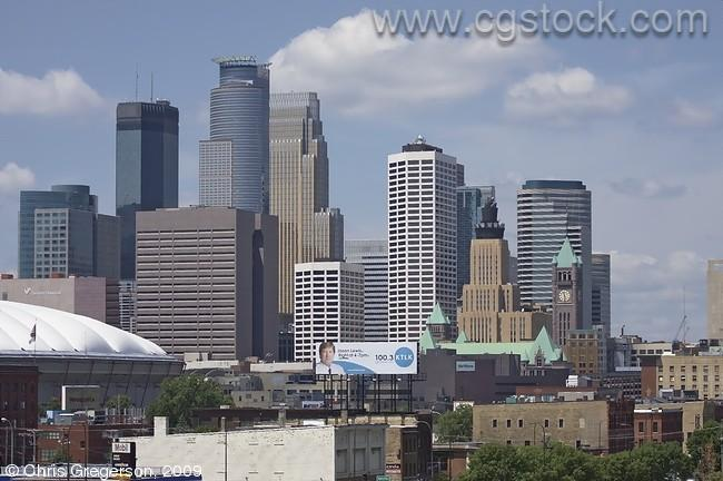 Downtown Minneapolis from the West Bank