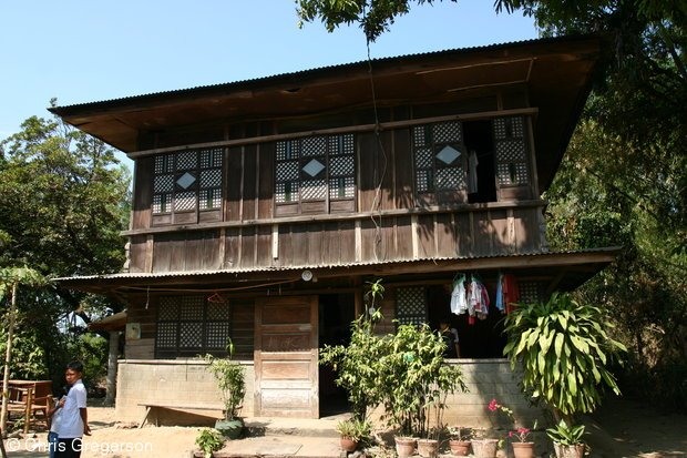 Stock photo traditional ilocano house philippines for Typical filipino house design