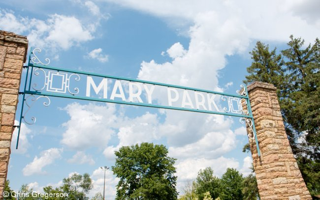 Entrance Sign at Mary Park