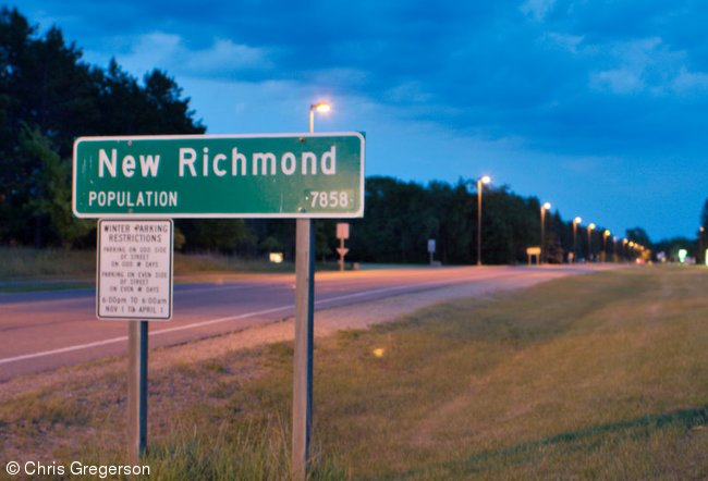 New Richmond Road Sign