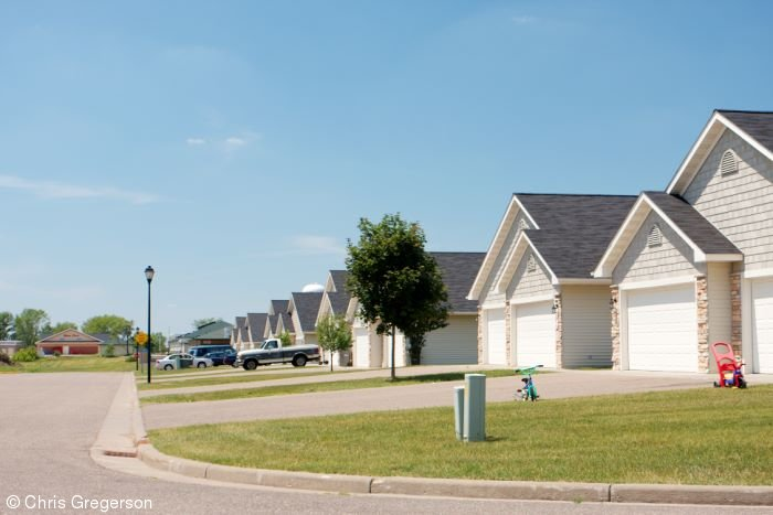 Newer Housing Development in New Richmond, WI