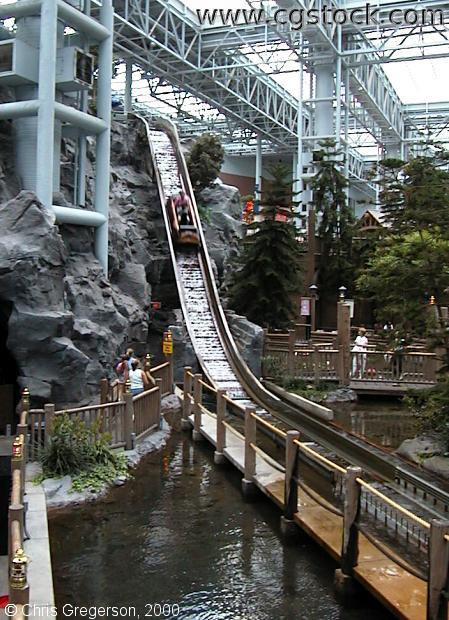 stock photo - Log Chute Ride at Camp Snoopy
