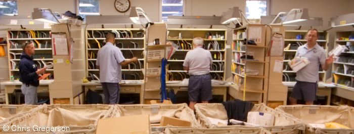 Mail Carriers Sorting Mail, New Richmond Post Office
