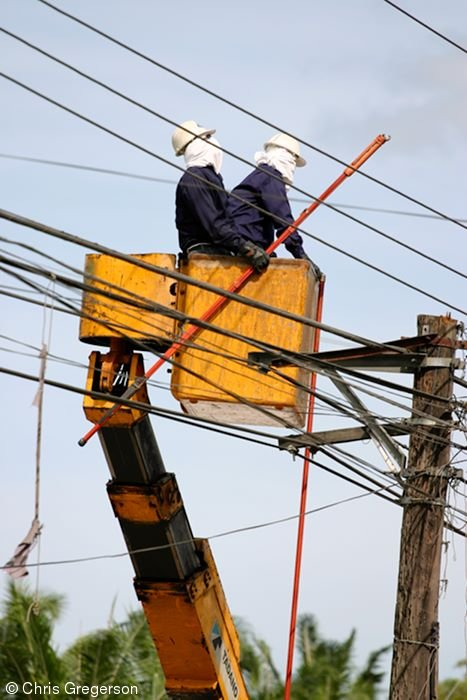 Linemen in the Philippines