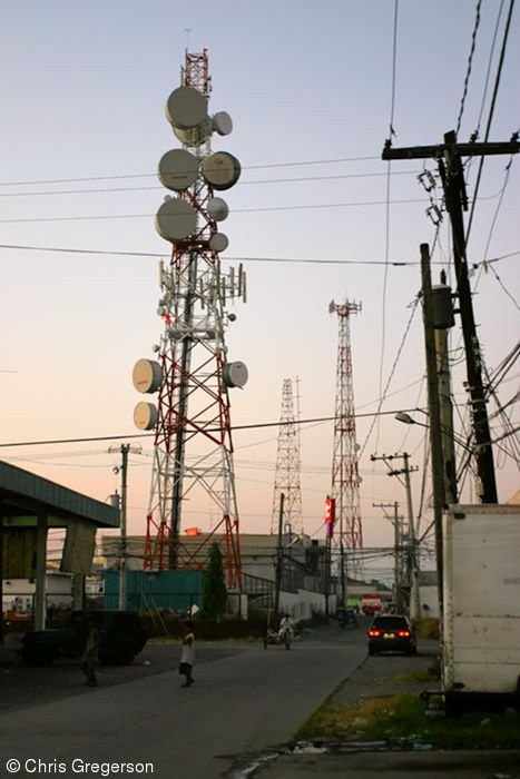 Microwave/Cell Towers near the Dau Bus Terminal, Angeles City