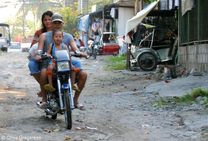 Family on a Motorcycle, Philippines
