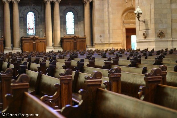 Pews in the Cathedral of St. Paul