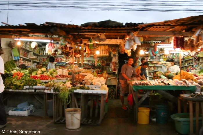 Market at Night, the Philippines