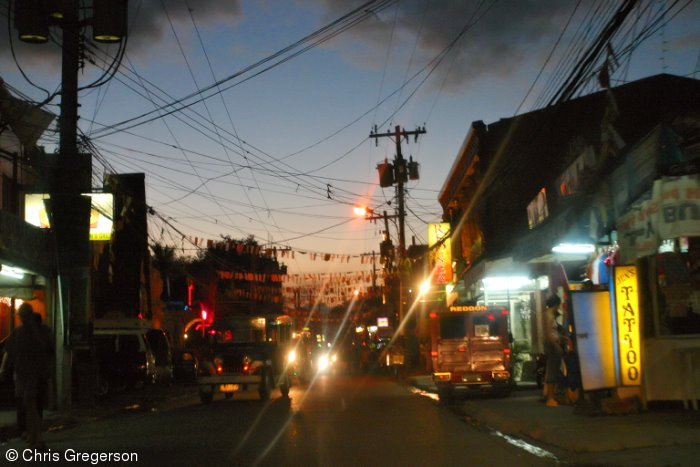 Fields Avenue at Night, Angeles City