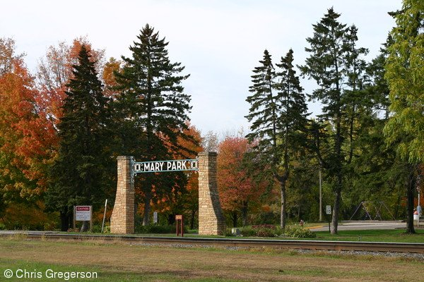 Entrance to Mary Park, New Richmond, WI