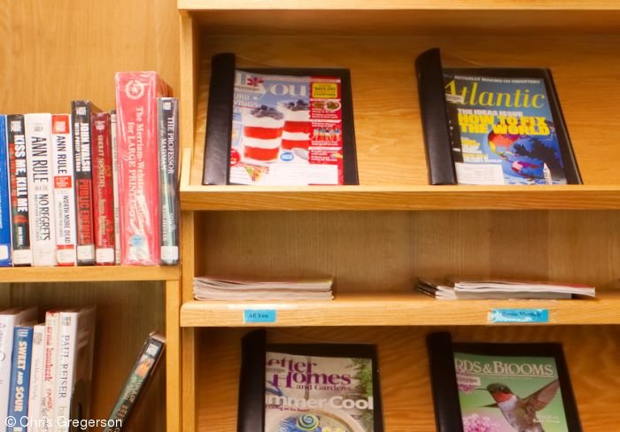 Magazine Shelves at the Friday Library