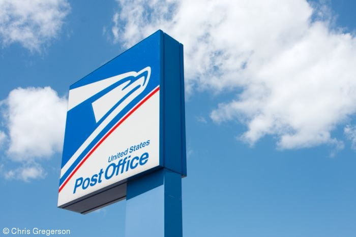United States Post Office Sign in New Richmond