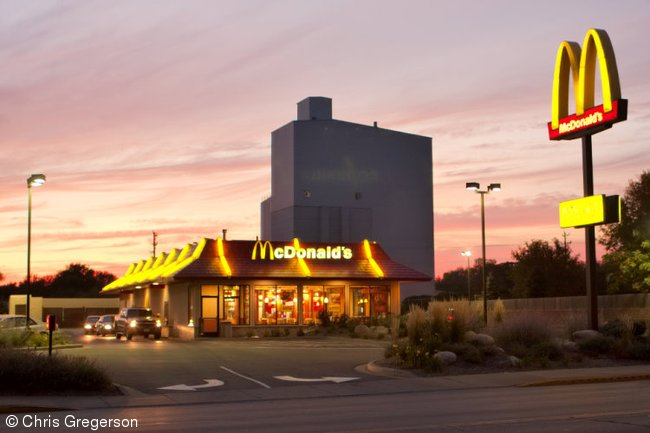 McDonalds on Knowles Avenue at Sunset