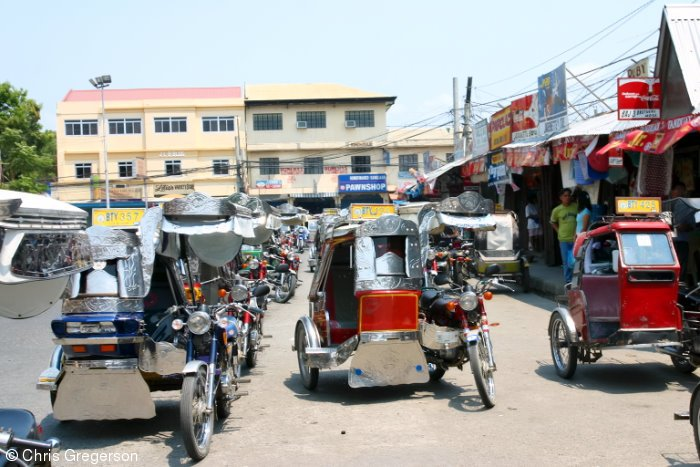 Trikes at the Vigan Public Market