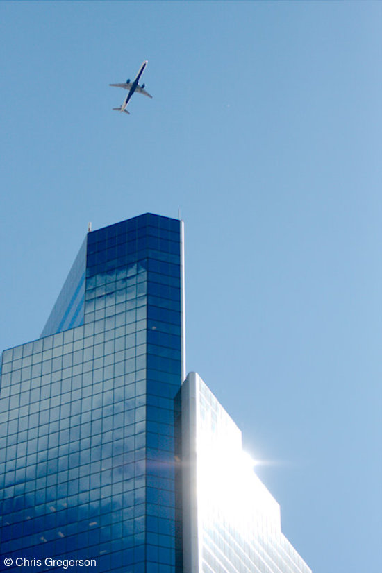 Airplane Over Campbell Mithun Tower, Minneapolis