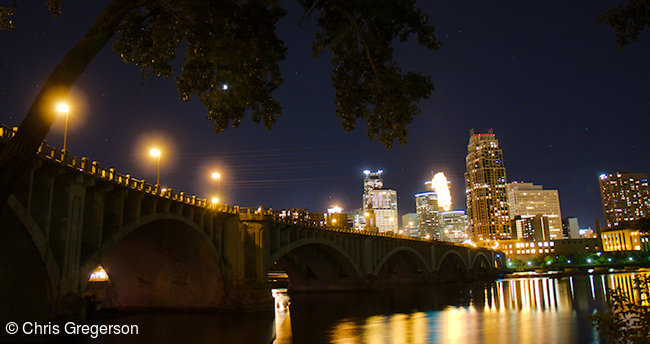 Third Avenue Bridge over the Mississippi River at Night