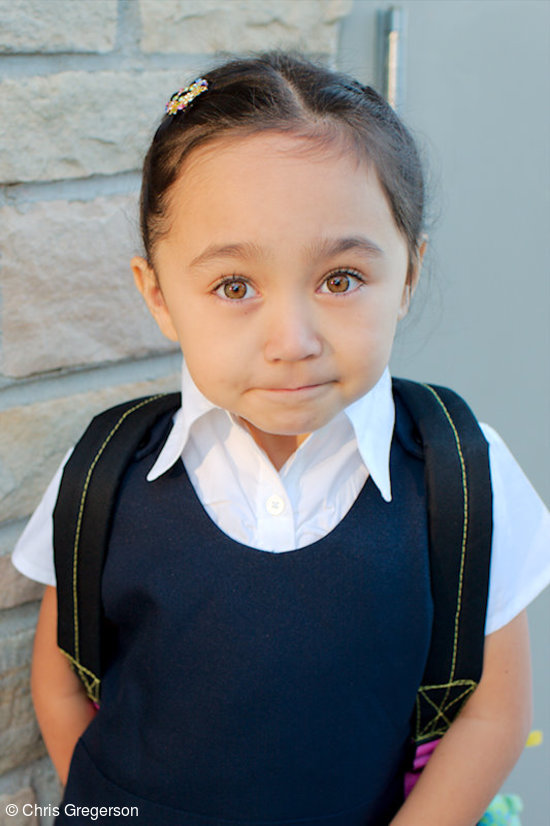 Athena on the First Day of Kindergarten